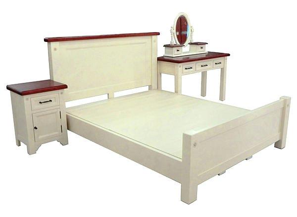 【尚品傢俱】443-01 阿格萊亞象牙烤白5尺雙人床台(另有6尺)