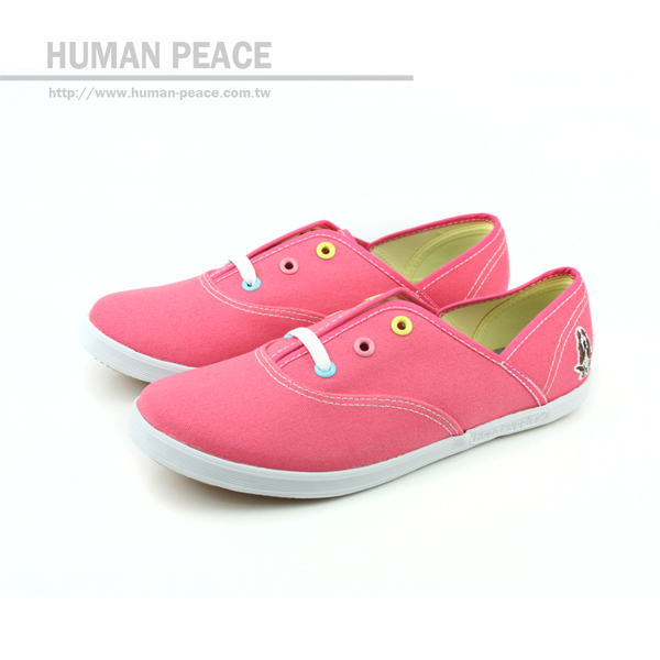 Hush Puppies 帆布鞋 粉 女款 no941