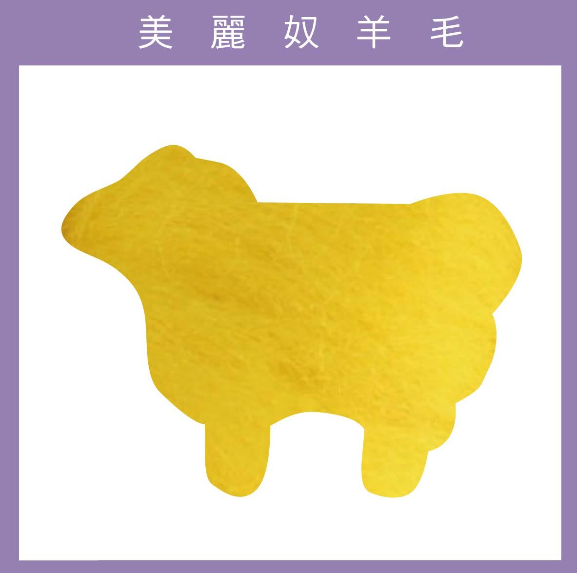 紐西蘭ASHFORD-美麗奴羊毛 M27鮮黃色