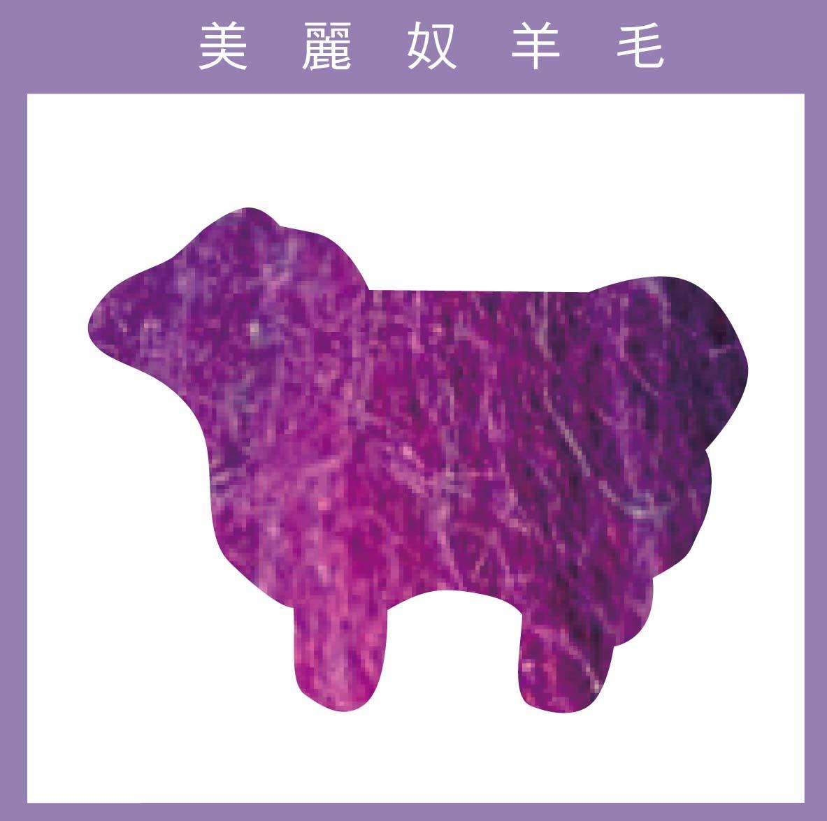 紐西蘭ASHFORD-美麗奴羊毛 M32紫紅色
