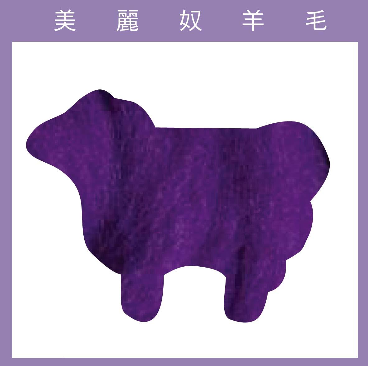 紐西蘭ASHFORD-美麗奴羊毛 M40茄子色