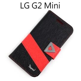 【Dapad】星光紋雙色支架皮套 [黑+紅] LG D620k G2 mini
