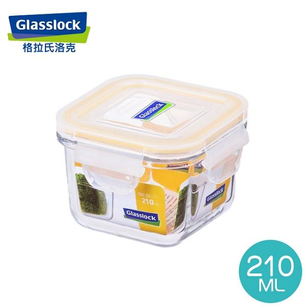 Glass Lock強化玻璃保鮮盒韓國原裝方型210ml-RP545嬰兒副食品分裝盒-大廚師百貨