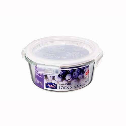 樂扣微波烤箱玻璃保鮮盒/便當盒圓型650ml-LLG831-大廚師百貨