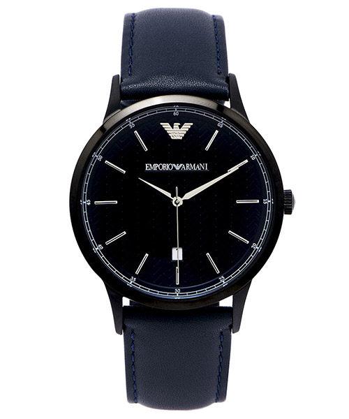 EMPORIO ARMANI/AR2479簡約紳士藍時尚腕錶/白面43mm
