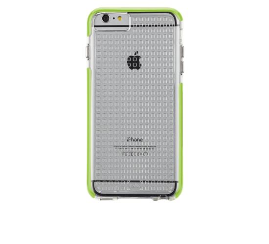 ☆EXPC☆ 正原廠公司貨 iPhone6 PLUS CASE MATE TOUGH AIR 萊姆邊條透明方格紋背蓋 保護殼 保護套 手機殼