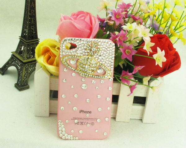 EXPC 白鑽 VIVIENNE WESTWOOD 粉紅底 iPHONE/SAMASUNG/HTC/貼鑽 水鑽 手機殼 手機殼專賣店
