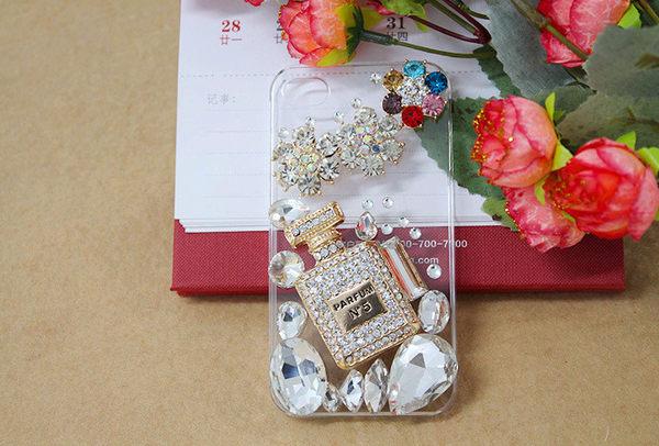 EXPC 香奈兒香水瓶 雪花花朵 iPHONE/SAMASUNG/HTC/貼鑽 水鑽 手機殼 手機殼專賣店