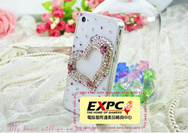 EXPC 愛心框透明底 幸福選擇題 王心凌 iPHONE/SAMASUNG/HTC/貼鑽 水鑽 手機殼 手機殼專賣店