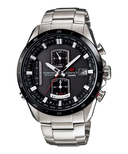 CASIO EDIFICE EQW-A1110DB-1A世界賽車太陽能電波腕錶/黑面43mm
