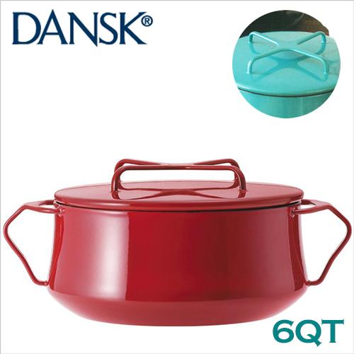 預購 北歐風格【Dansk】Kobenstyle 6QT 雙耳_瑯燉煮鍋 26cm 鮮辣紅
