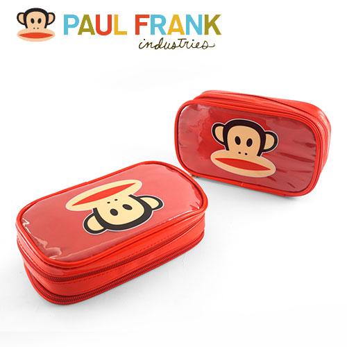 【Paul Frank】大嘴猴雙拉鏈多功能收納包