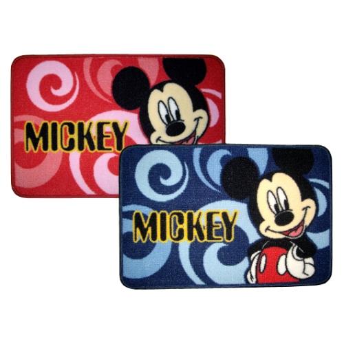 Disney經典米奇圖案防滑地墊MK302(藍/紅)任選1入
