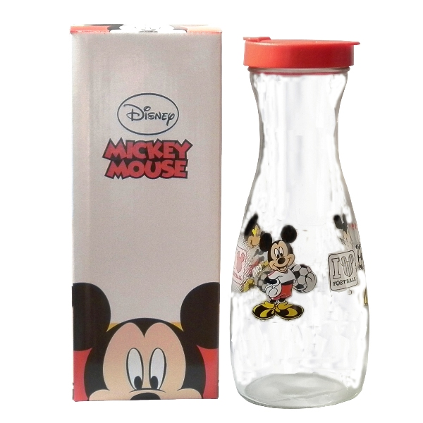Disney米奇足球圖案玻璃冷水壺1000cc