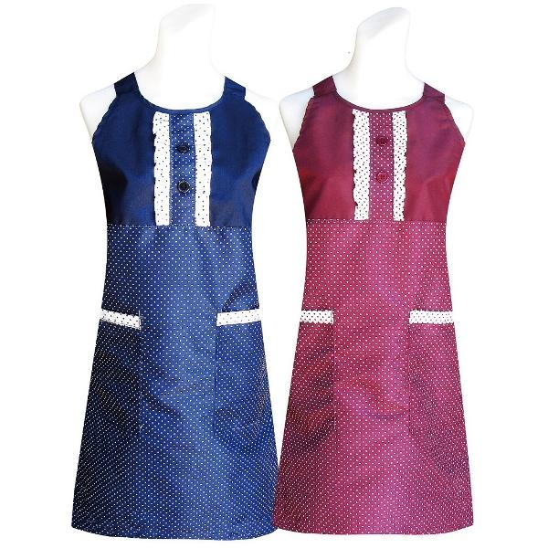 典雅兩口袋圍裙(藍/紅)1入任選CC509