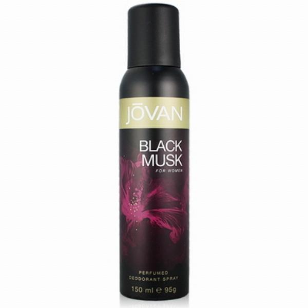 JOVAN White MUSK for Women 女性黑麝香體香噴霧(黑瓶150ml)