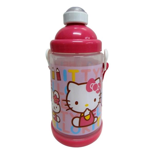 Hello Kitty背帶式彈跳水壺 650c.c