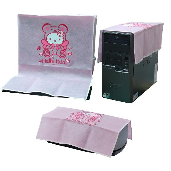 Hello Kitty電腦防塵罩三件組