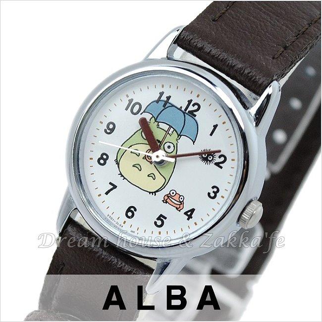 日本進口 宮崎駿 龍貓 ALBA精工 雅柏錶 銀色圓款 手錶/手表 ACBS693 《 日本機芯 》★ 夢想家精品家飾 ★