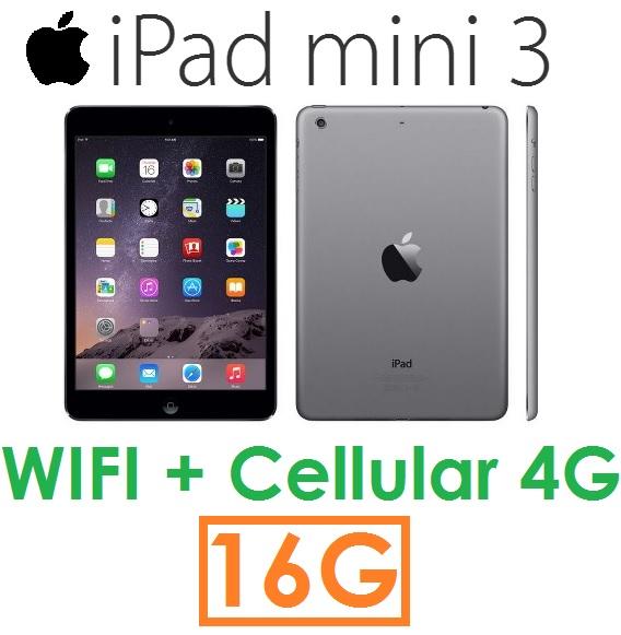 【原廠現貨】蘋果 Apple iPad mini 3 平板 16G(WIFI + Cellular 版)4G LTE mini3