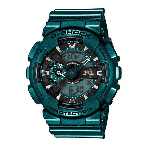 CASIO G-SHOCK GA-110NM-3A耀眼金屬綠流行腕錶/51mm