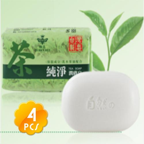 ◇台灣製造品質保證◇蜂王純淨潤膚茶皂(80g*4入)◇茶/乳木果油◇[51137]