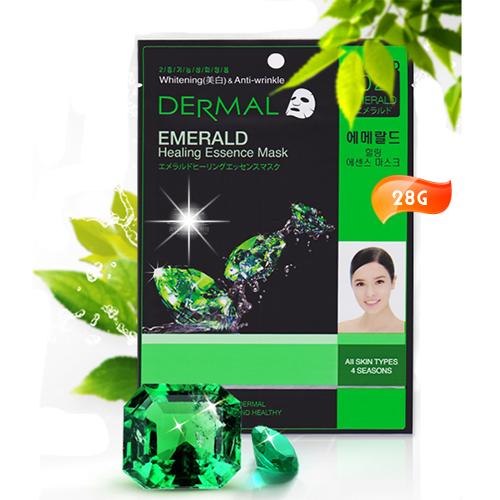 韓國DERMAL綠寶石粉亮白面膜1入 [50096]◇美容美髮美甲新秘專業材料◇