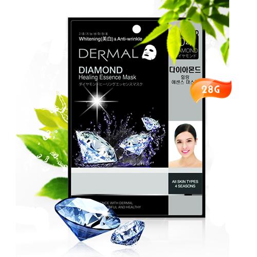 韓國DERMAL鑽石粉亮白保濕面膜1入 [50098]◇美容美髮美甲新秘專業材料◇