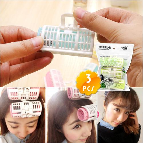 酷品P-8284美妝小物造型夾式髮捲(三入) [49188]空氣瀏海.浪漫微捲