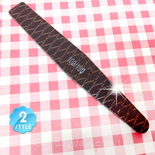 日式網狀硬板高品質紙挫.指甲磨砂條(100/180)-單支(兩款) [52875]手足修剪磨拋用具