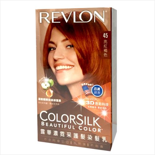 REVLON露華濃霓采護髮染髮乳-45亮紅褐色 [54019]