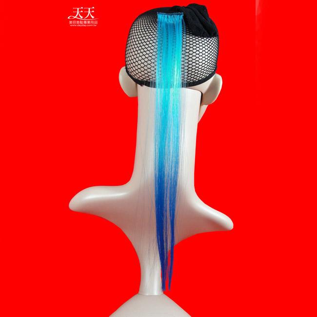 嘉奈兒 挑雙染髮束單釦-淺藍+深藍色 [29990] *新娘秘書/造型假髮* ::WOMAN HOUSE::