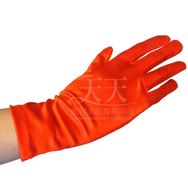 新娘手套 絲質絲質素面(短)-紅色 [40214] ::WOMAN HOUSE::