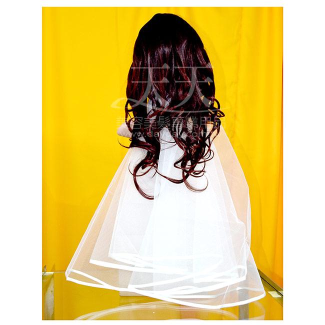 新娘頭紗網1.5尺緞帶滾邊(白色) [40218] ::WOMAN HOUSE:: 新秘/整體造型/妝髮