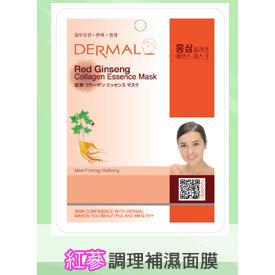 韓國DERMAL 紅蔘調理補濕面膜 1入 [42773] ::WOMAN HOUSE::