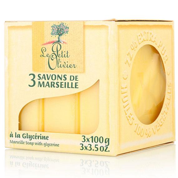 小橄欖樹馬賽香皂 100g*3(甘油) [44908] ::WOMAN HOUSE::