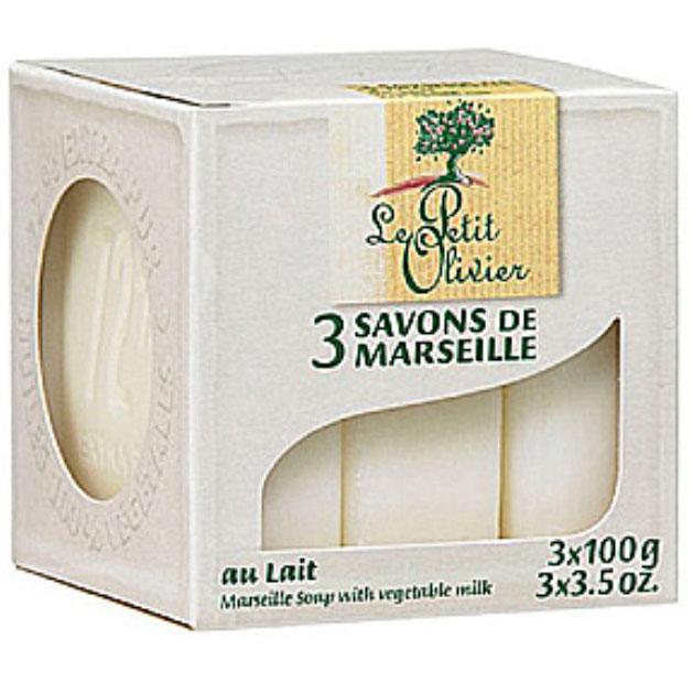 小橄欖樹馬賽香皂 100g*3(牛奶) [44911] ::WOMAN HOUSE::