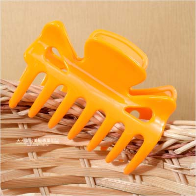 【燙髮專用】HONGLIDA 陶瓷機耐高溫外用夾(橘黃色)-單支 [46868]◇美容美髮美甲專業材料◇