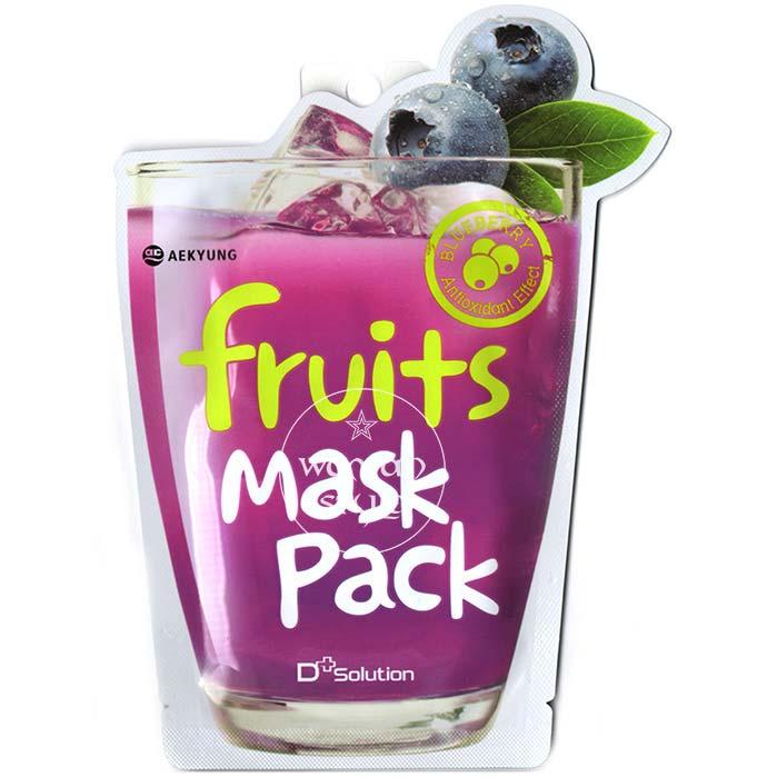 【 產地:韓國】D Solution超juicy果汁面膜-藍莓(23ml/包) [47574]