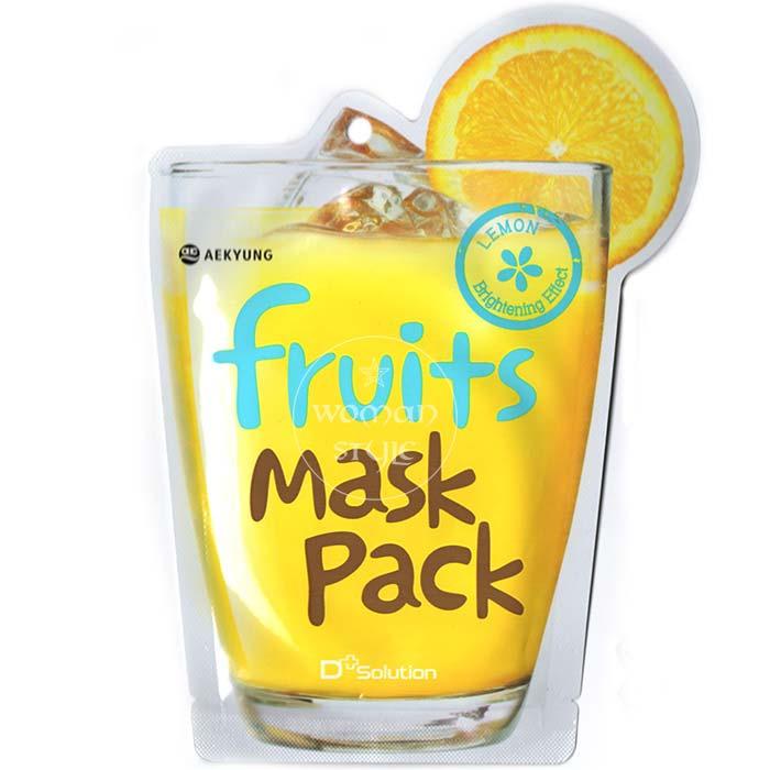 【 產地:韓國】D Solution超juicy果汁面膜-檸檬(23ml/包) [47576]
