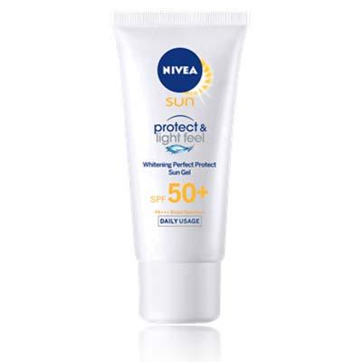【SPF50+ PA+++】NIVEA妮維雅 水活透白防曬乳液-臉部/身體適用 40ml [48136]