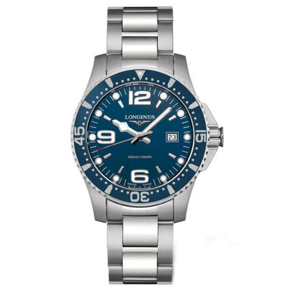 LONGINES L36414966深海征服者潛水經典面機械腕錶/藍面藍圈39mm