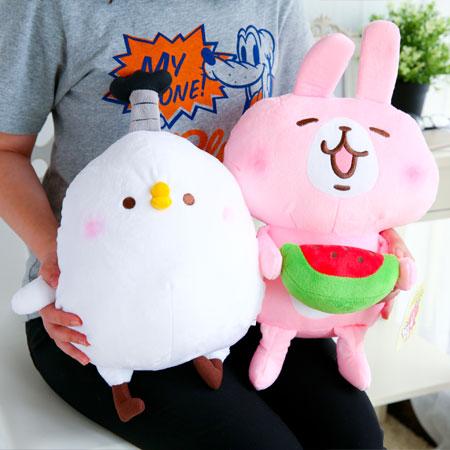 正版卡娜赫拉絨毛娃娃 12吋 抱枕 娃娃 玩偶 絨毛玩具 兔子 小兔兔 貓咪 P助 小雞 Kanahei【B062321】