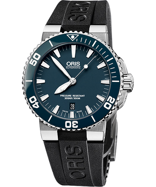 ORIS 豪利時 0173376534155-0742634EB時間之海專業潛水腕錶/藍面43mm