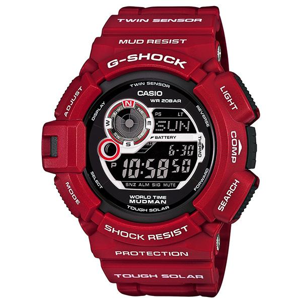 CASIO G-SHOCK G-9300RD-4DR紅蛙人數位流行腕錶/50mm