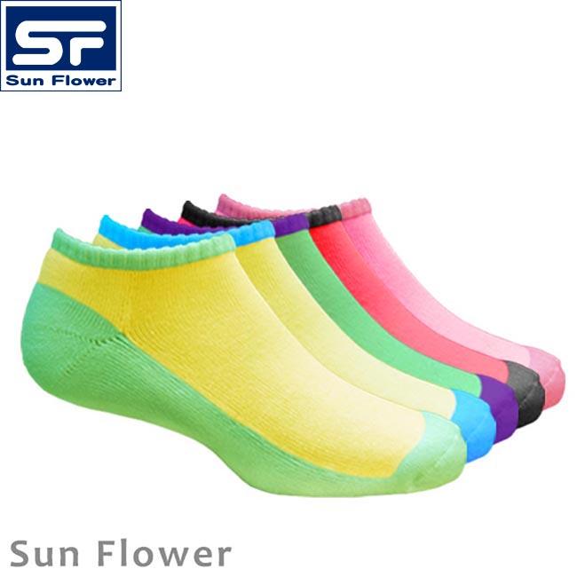 【Sun Flower三花】456_彩色隱形運動襪