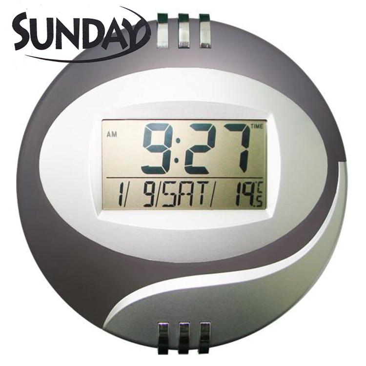 小玩子 SUNDAY LCD 液晶 萬年曆 電子鐘 時間 貪睡 計時 掛式 座式 SV-2010