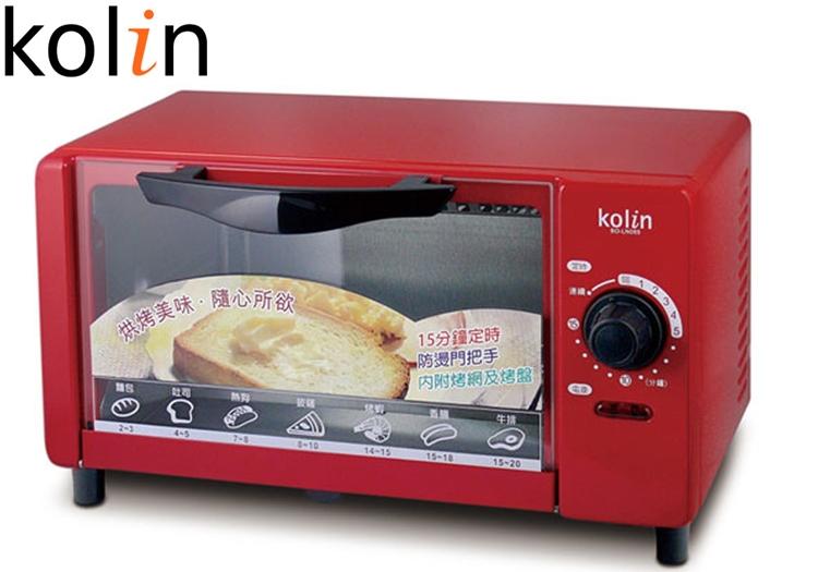 小玩子 歌林Kolin 6公升小烤箱 魅力紅 料理 輕鬆 美味 牛排 吐司 香腸 BO-LN065