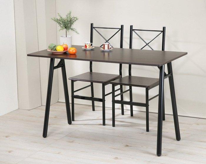 120公分A型餐桌椅組(1桌2椅)電腦桌椅組 書桌椅組【馥葉】【型號DE2240WA-2P】可加購玻璃