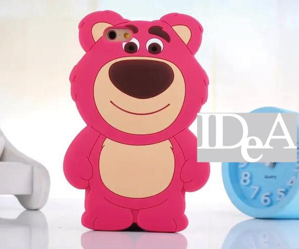 迪士尼 玩具總動員 iPhone5/5s iPhone 6/Plus  熊抱哥 草莓熊 卡通立體手機殼 矽膠套 保護殼 抱抱熊